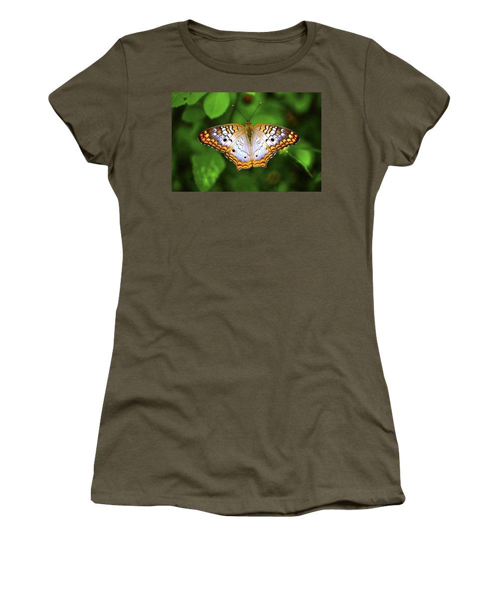 Butterfly Women's T-Shirt featuring the photograph Butterfly Closeup by Randy Aveille