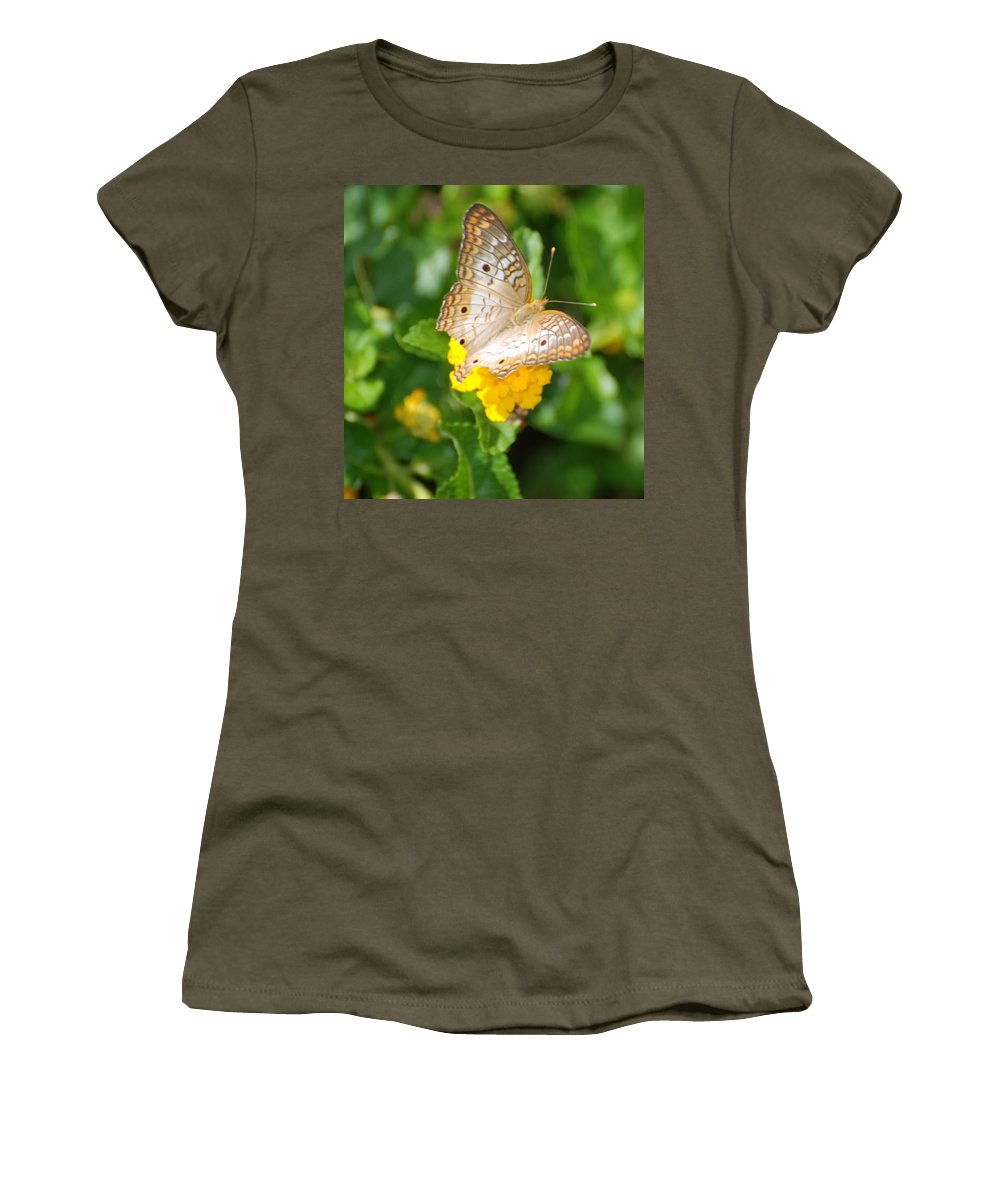 Butterfly Women's T-Shirt featuring the photograph Butterflywith Dots by Rob Hans