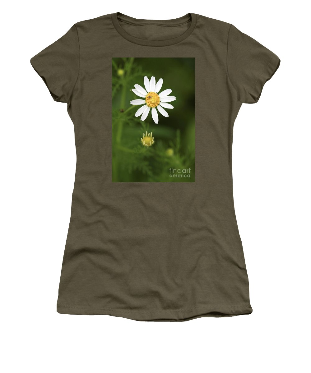Flower Women's T-Shirt (Athletic Fit) featuring the photograph By The Pond by Deborah Benoit
