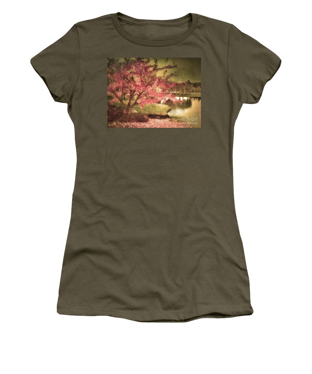 Tree Women's T-Shirt featuring the photograph By The Water by Tara Turner