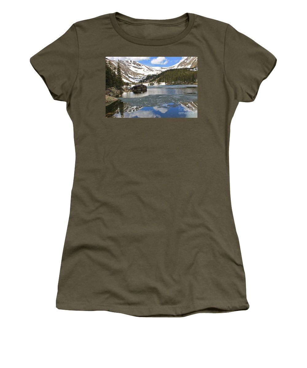 Nature Women's T-Shirt featuring the photograph Cabin On Chinns Lake 2 by Tonya Hance