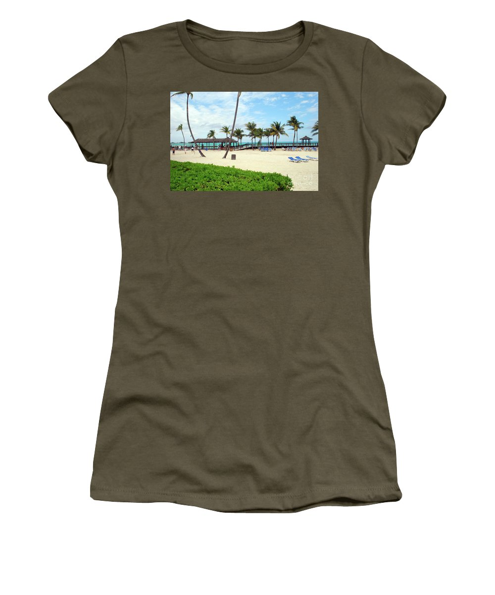 Caribbean Women's T-Shirt featuring the photograph Cable Beach by Gary Wonning