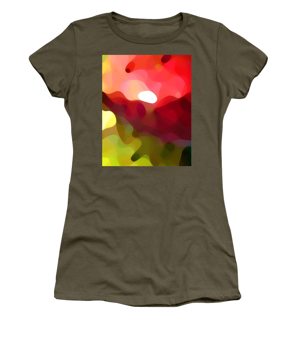 Abstract Art Women's T-Shirt featuring the painting Cactus Resting by Amy Vangsgard