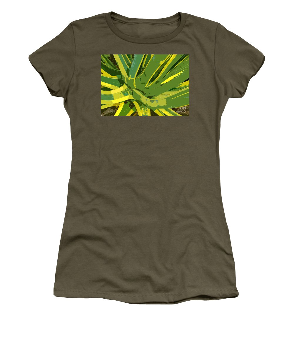 Cactus Women's T-Shirt (Athletic Fit) featuring the photograph Cactus Work Number 2 by David Lee Thompson