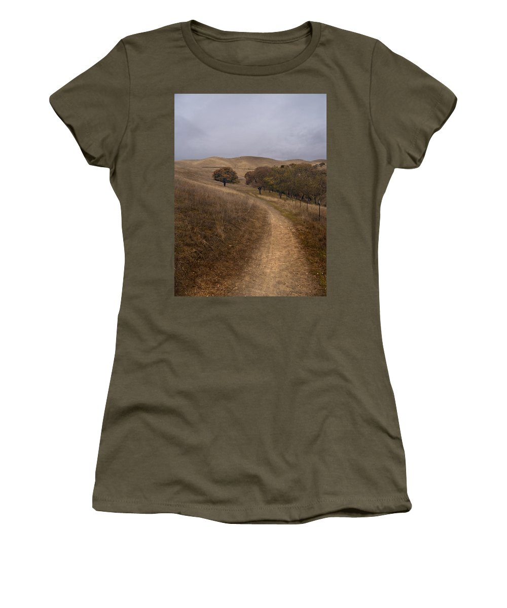 Landscape Women's T-Shirt (Athletic Fit) featuring the photograph California Winter by Karen W Meyer