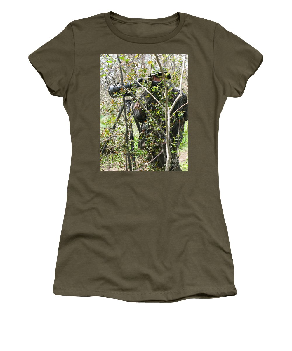 Photographer Women's T-Shirt (Athletic Fit) featuring the photograph Camouflage by Ann Horn