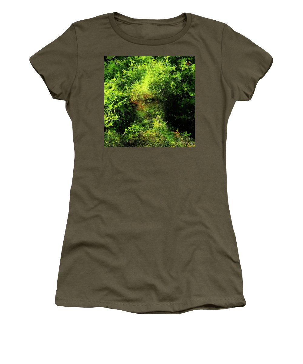 Spring Women's T-Shirt featuring the painting Camouflage by Neil Finnemore
