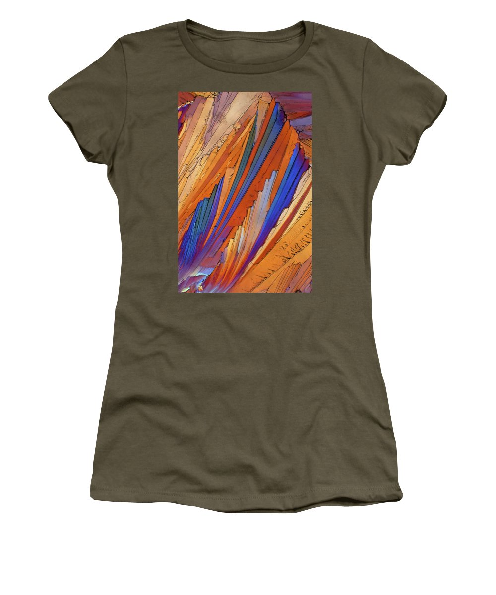 Abstract Women's T-Shirt (Athletic Fit) featuring the photograph Campari 25 by Bernardo Cesare