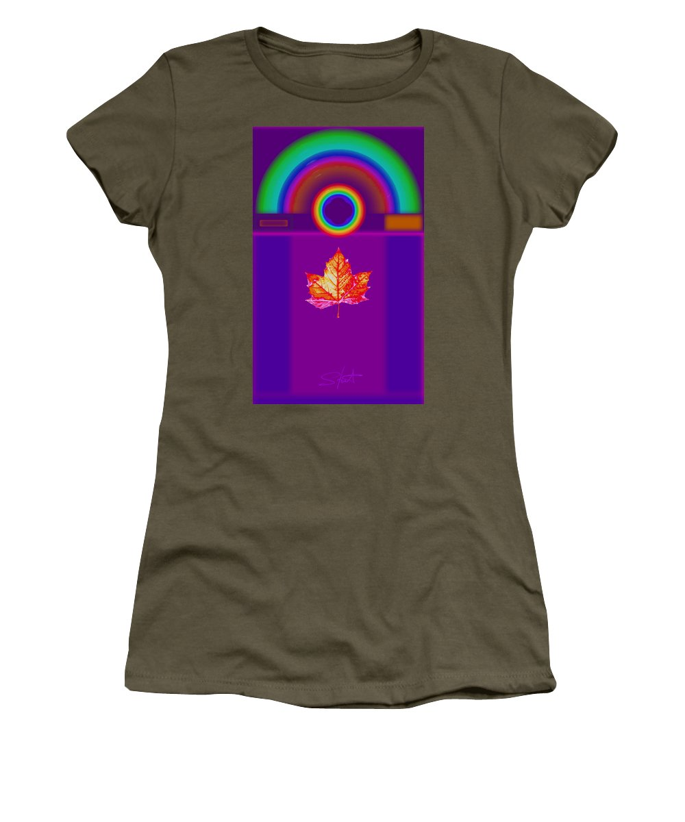 Classical Women's T-Shirt featuring the digital art Canadian Palladian by Charles Stuart