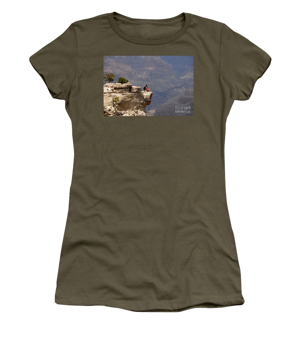 Grand Canyon National Park Arizona Women's T-Shirt featuring the photograph Canyon Thoughts by David Lee Thompson