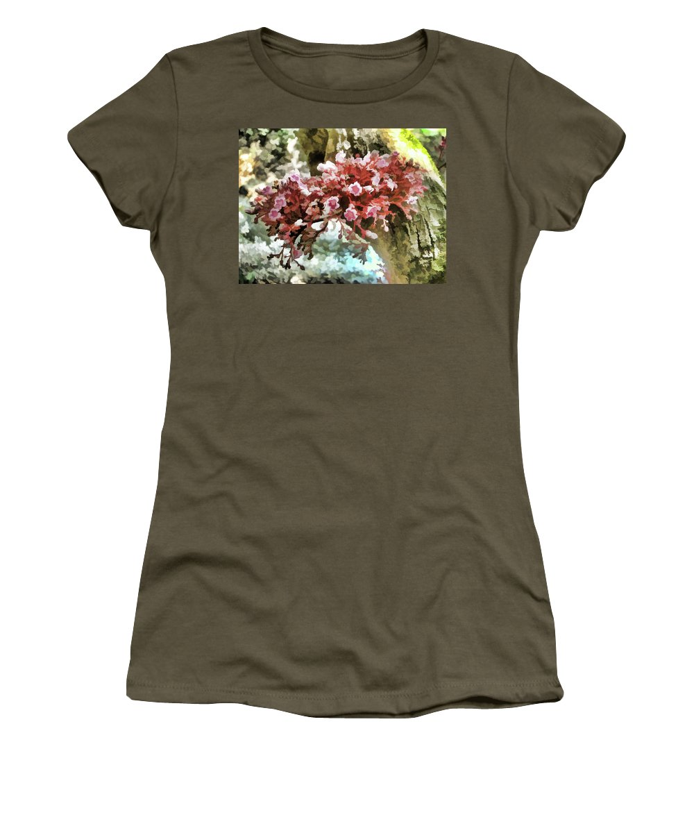 Carambola Flower Women's T-Shirt featuring the painting Carambola Flower by Jeelan Clark