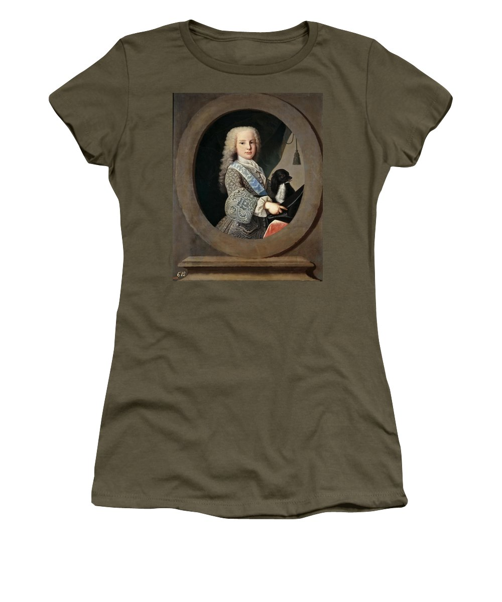 Jean Ranc Women's T-Shirt (Athletic Fit) featuring the painting Cardinal-infante Luis Antonio De Bourbon And Farnese by Jean Ranc