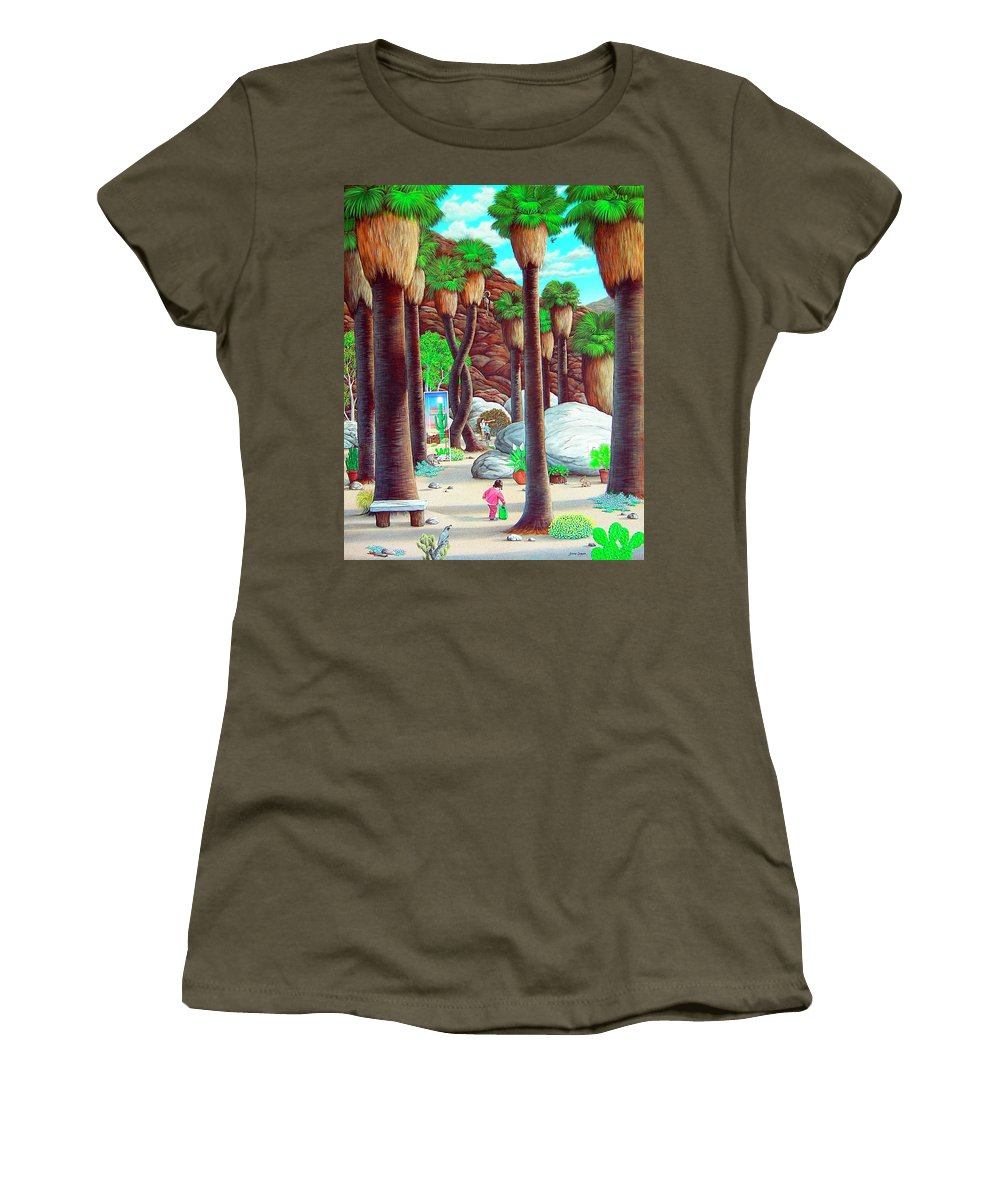 Canyon Women's T-Shirt featuring the painting Caretaker by Snake Jagger