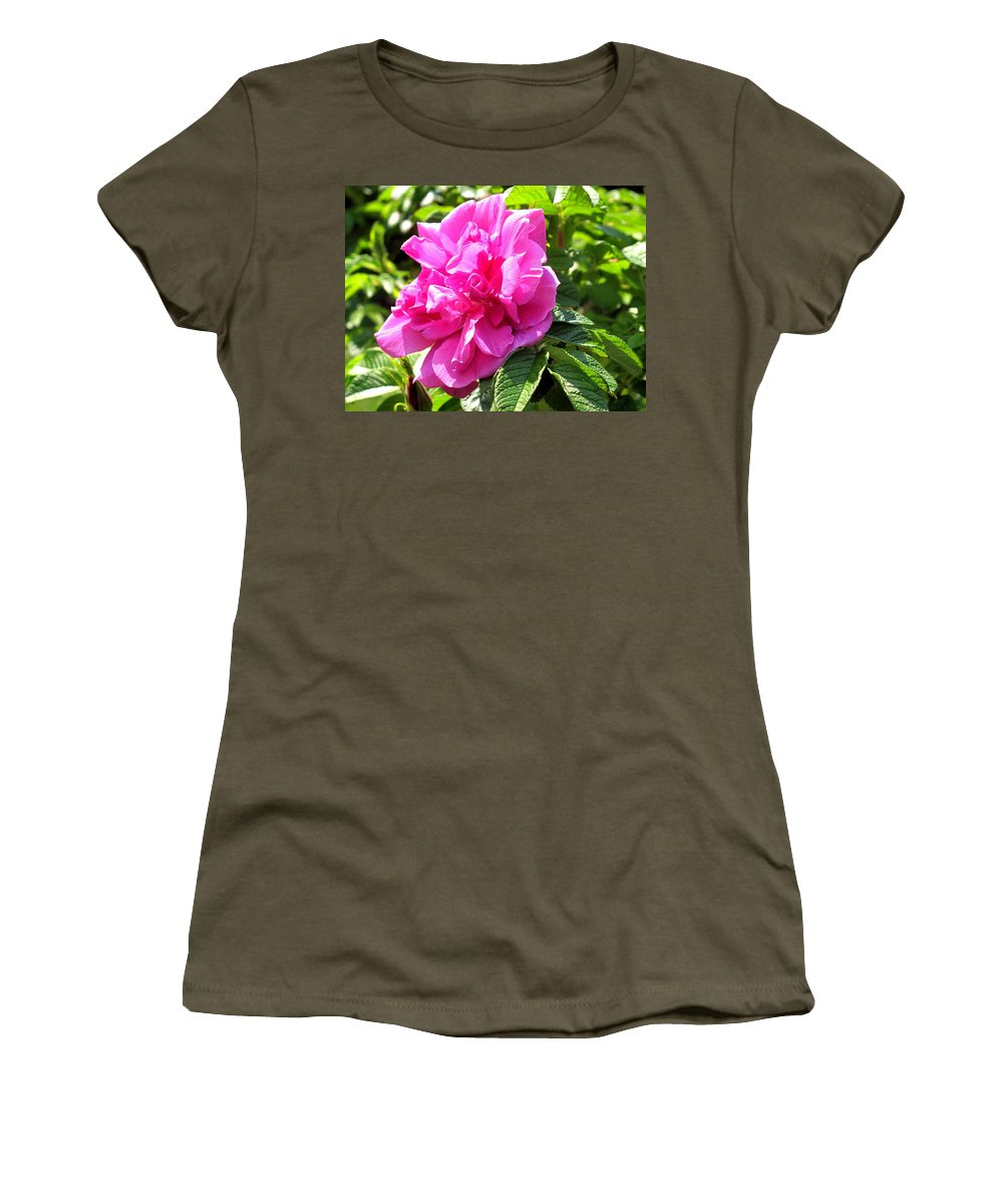Rose Women's T-Shirt (Athletic Fit) featuring the photograph Carmen by Ian MacDonald