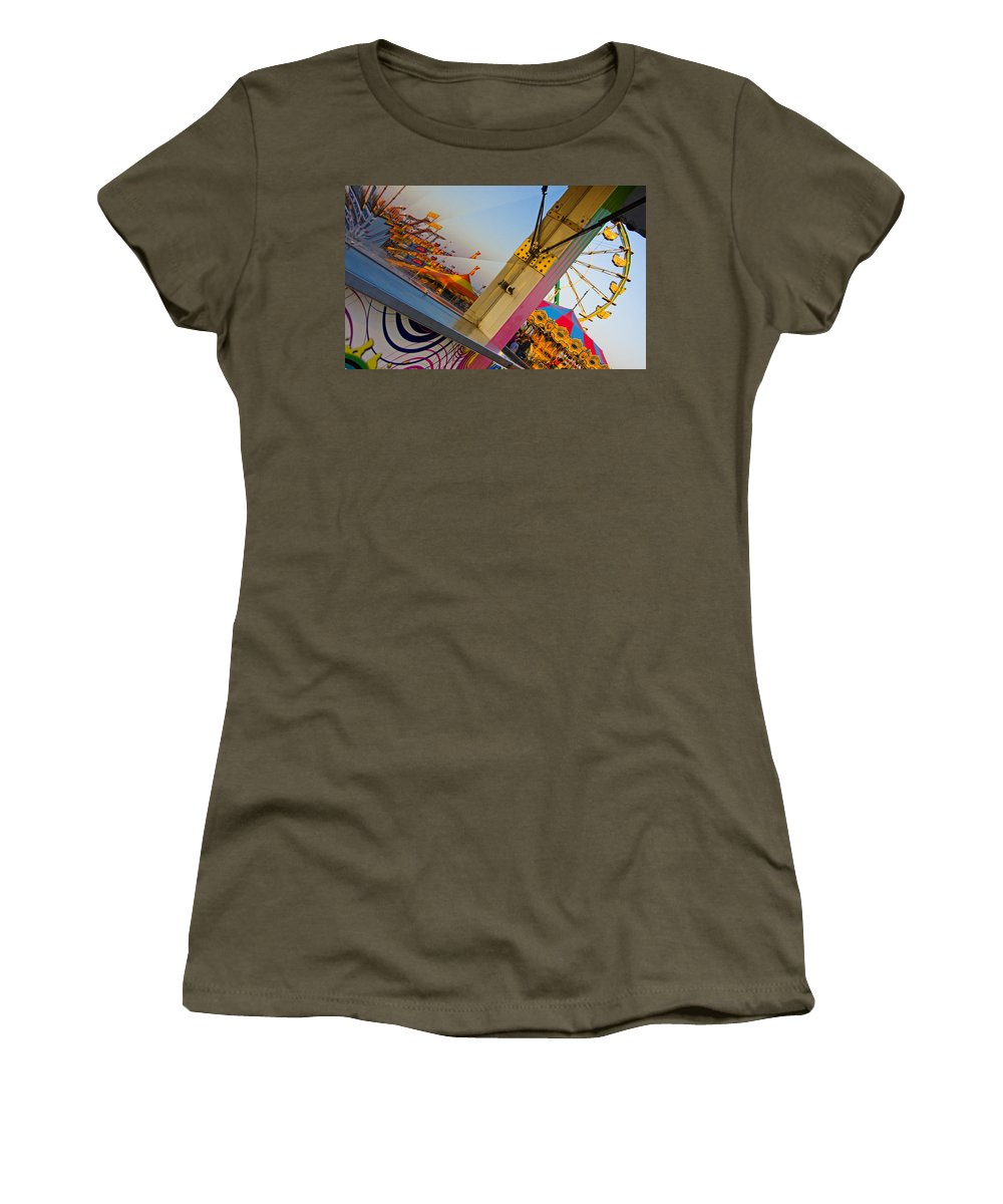 Carnival Women's T-Shirt (Athletic Fit) featuring the photograph Carnival 1 by Skip Hunt