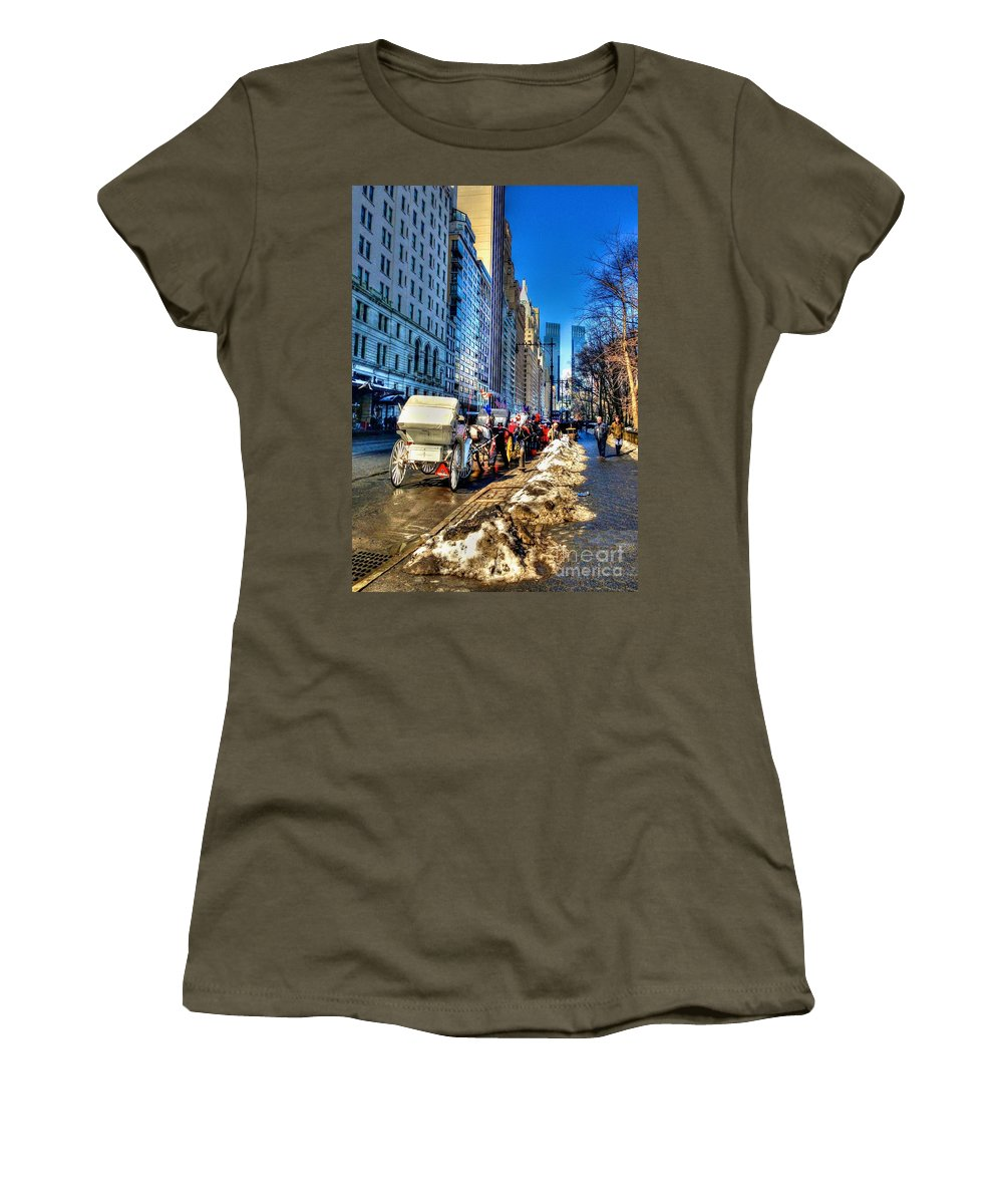 Carriage Women's T-Shirt (Athletic Fit) featuring the photograph Carriage Ride by Debbi Granruth