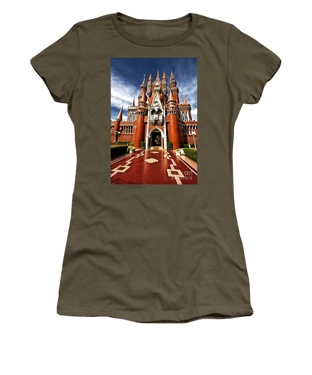 Children Women's T-Shirt featuring the photograph Castle Taman Mini Indonesia Indah by Charuhas Images
