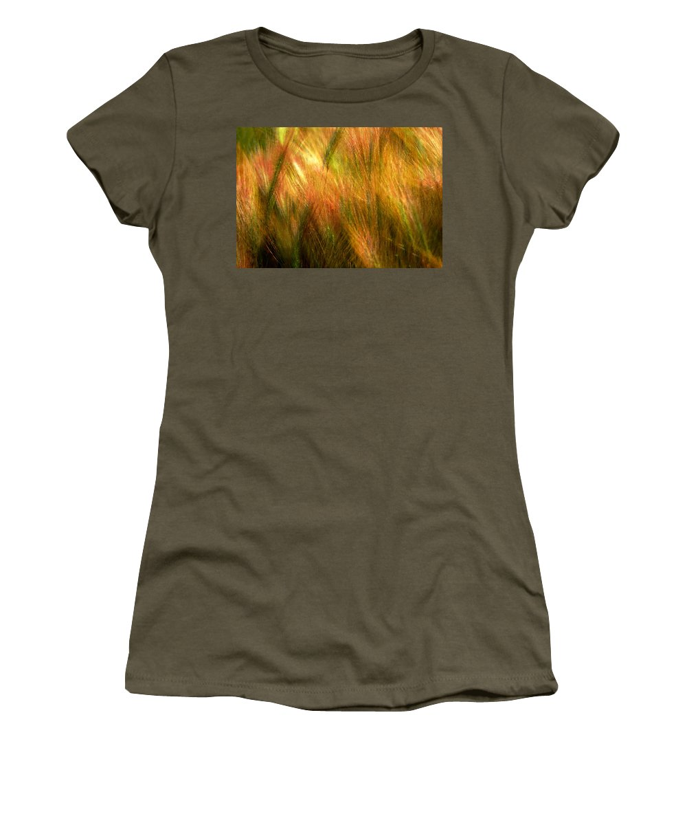 Abstract Women's T-Shirt featuring the photograph Cat Tails by Paul Wear
