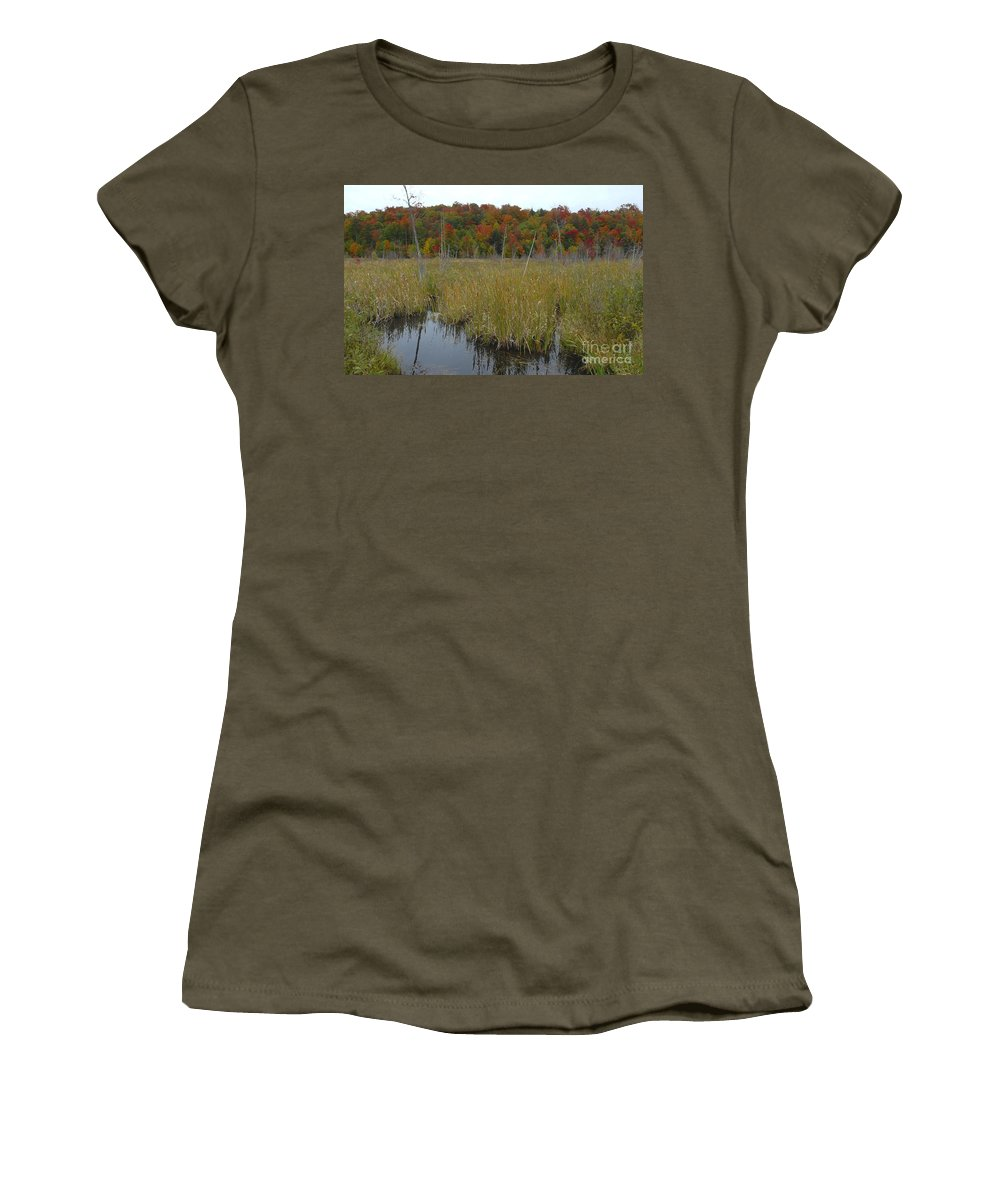 Cattails Women's T-Shirt featuring the photograph Cattails by David Lee Thompson
