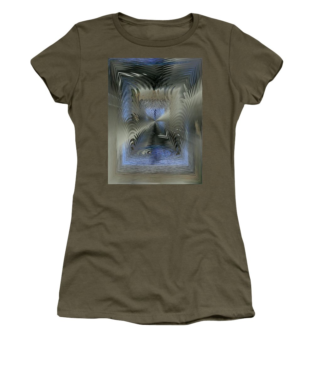 Puddle Women's T-Shirt featuring the photograph Cause And Effect by Tim Allen