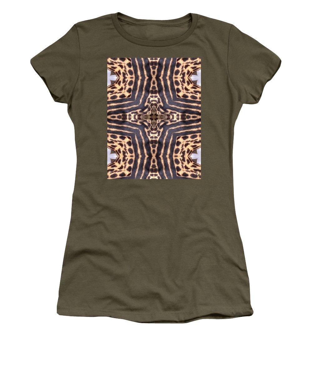 Digital Women's T-Shirt featuring the digital art Cheetah Cross by Maria Watt