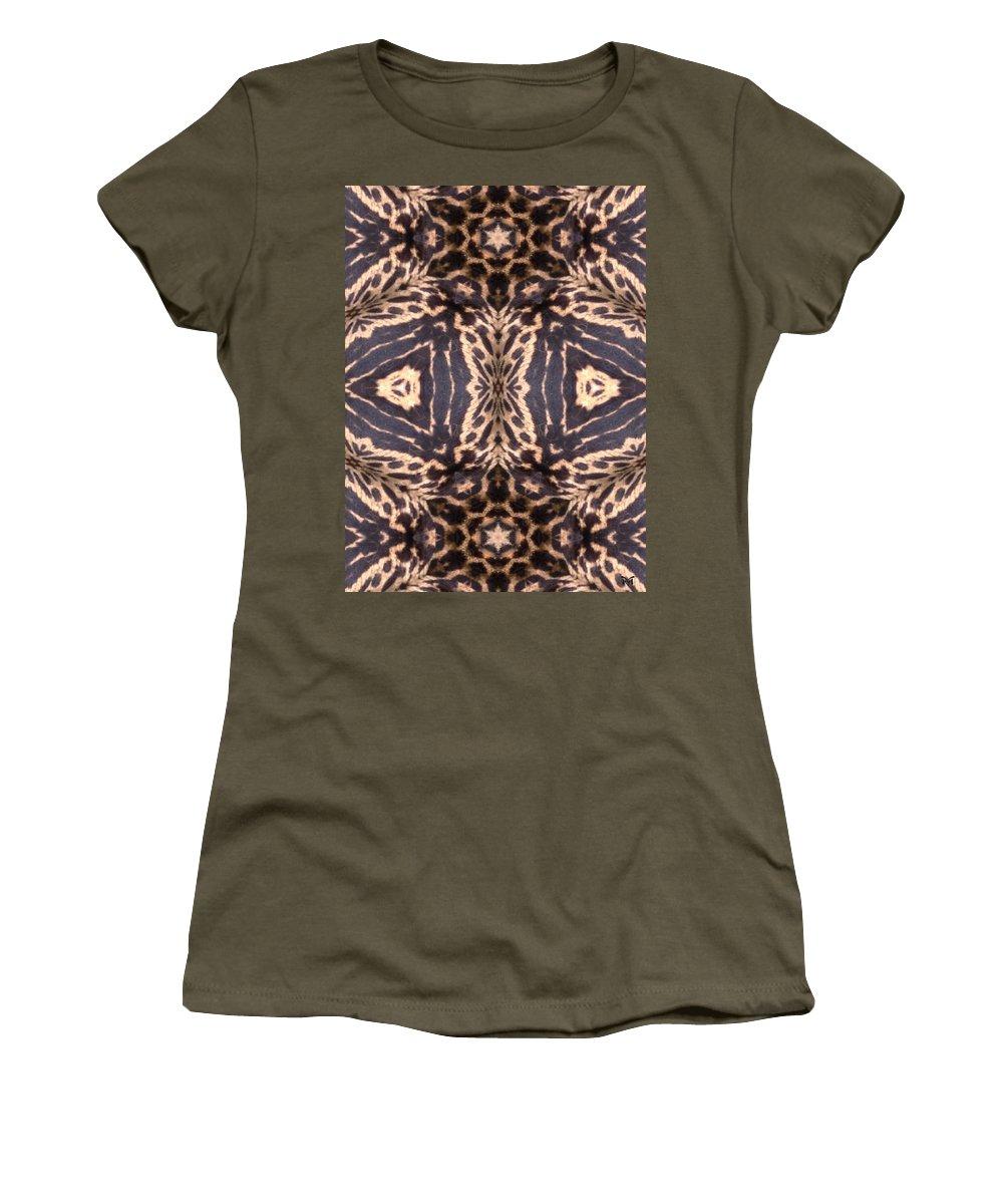 Digital Women's T-Shirt featuring the digital art Cheetah Print by Maria Watt