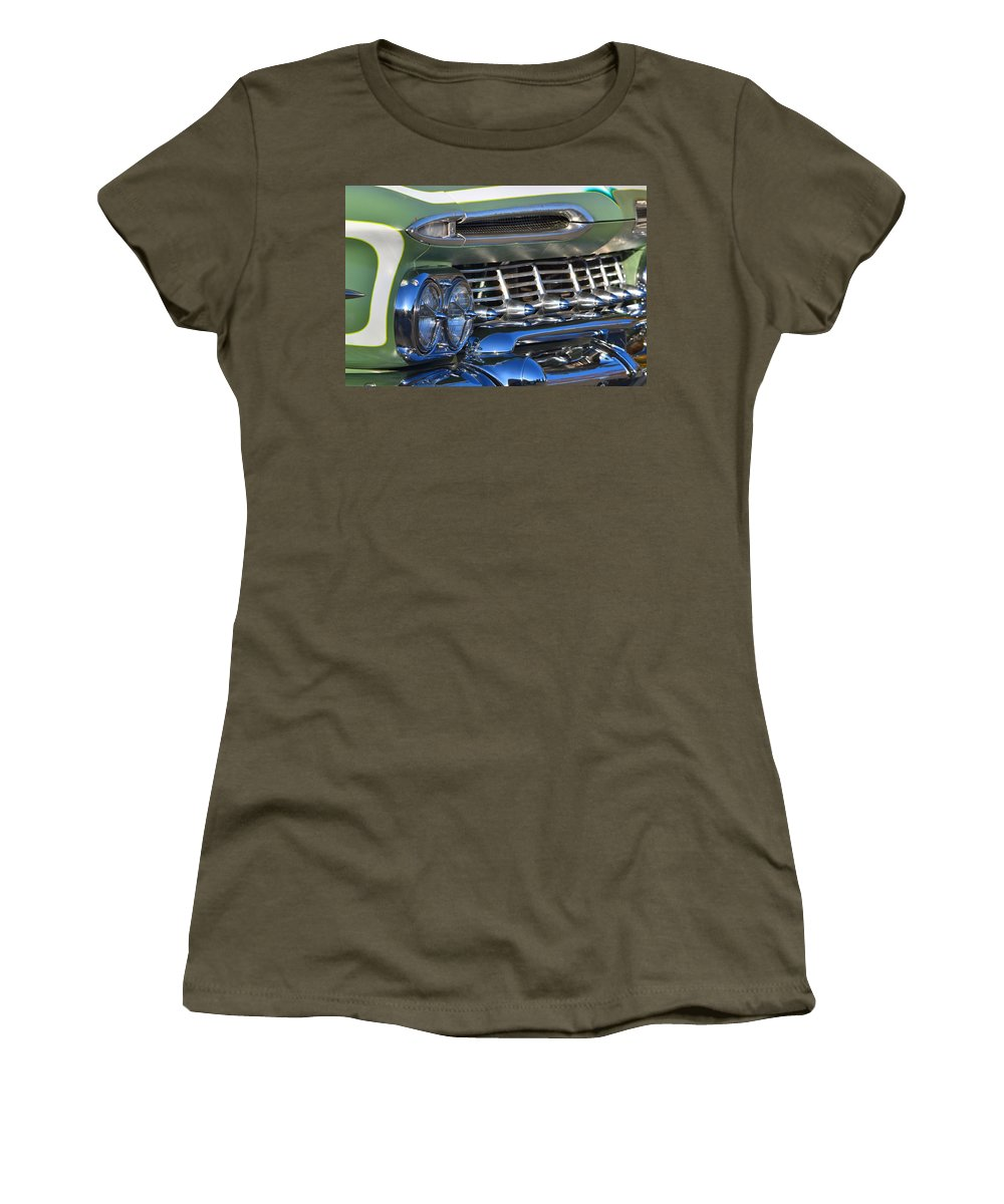 Women's T-Shirt (Athletic Fit) featuring the photograph Chevy Low And Slow by Dean Ferreira