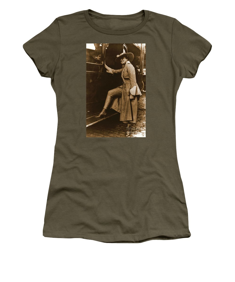 Chicago Suffragette Marching Costume Women's T-Shirt featuring the photograph Chicago Suffragette Marching Costume by Padre Art