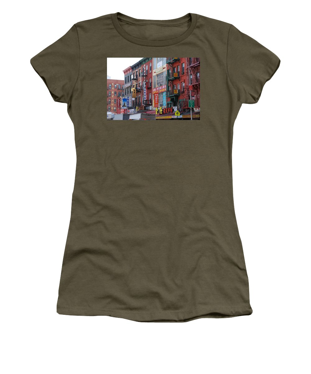 Architecture Women's T-Shirt featuring the photograph China Town Buildings by Rob Hans