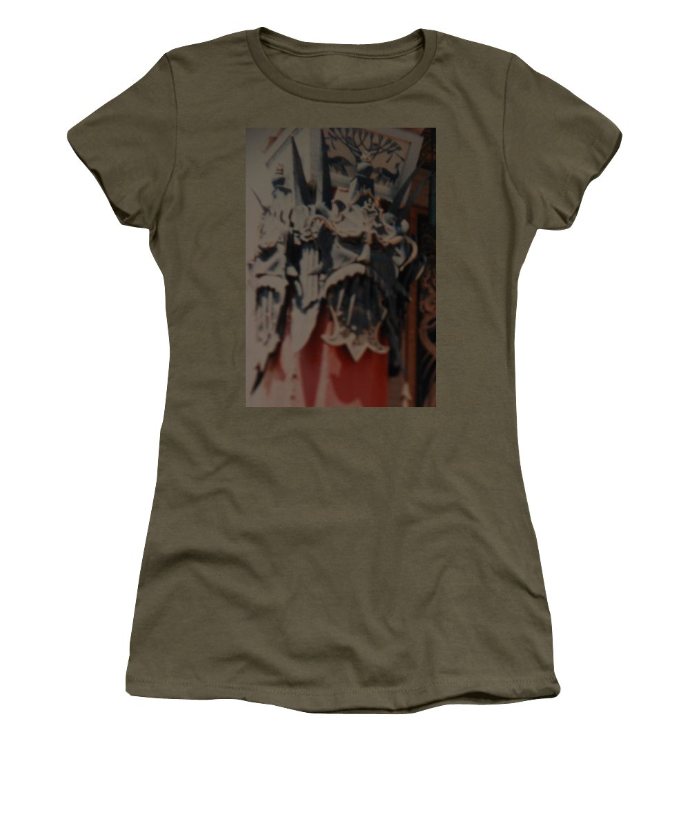 Grumanns Chinese Theater Women's T-Shirt featuring the photograph Chinese Masks by Rob Hans