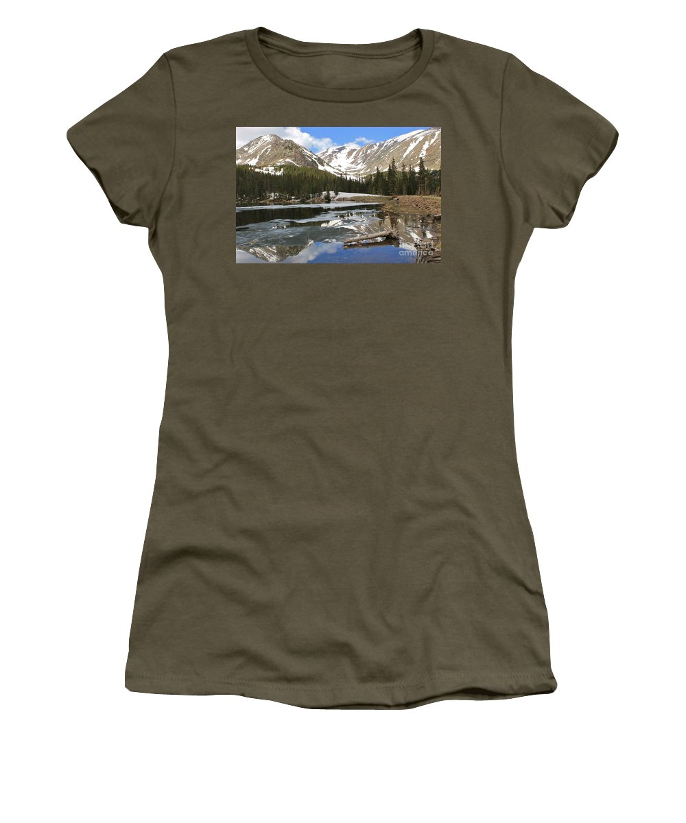 Nature Women's T-Shirt featuring the photograph Chinns Lake Reflections 3 by Tonya Hance