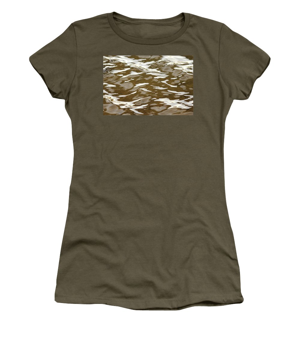 Water Women's T-Shirt (Athletic Fit) featuring the photograph Chocolate And Marshmallows by Donna Blackhall