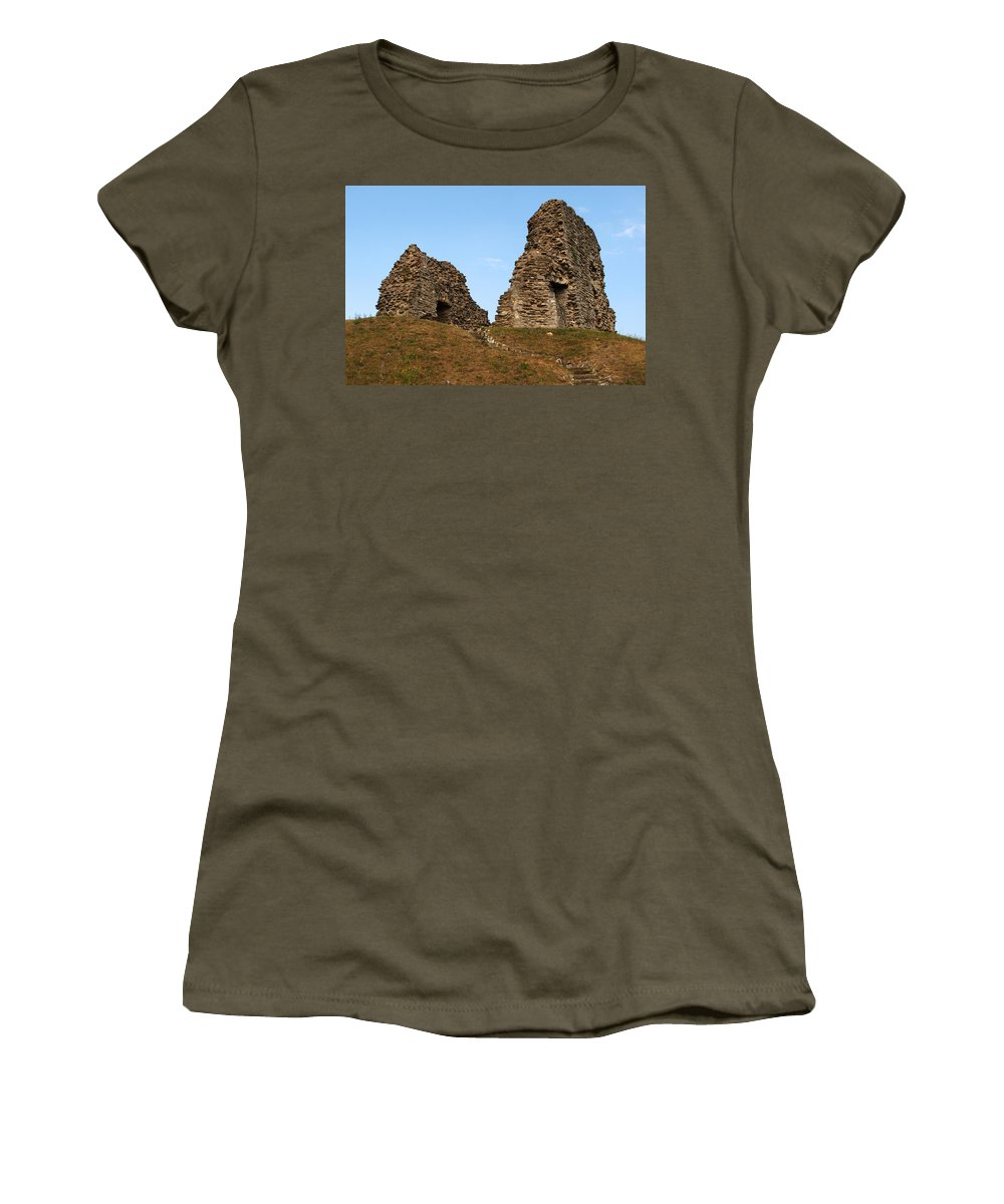 Christchurch Women's T-Shirt featuring the photograph Christchurch Castle by Chris Day