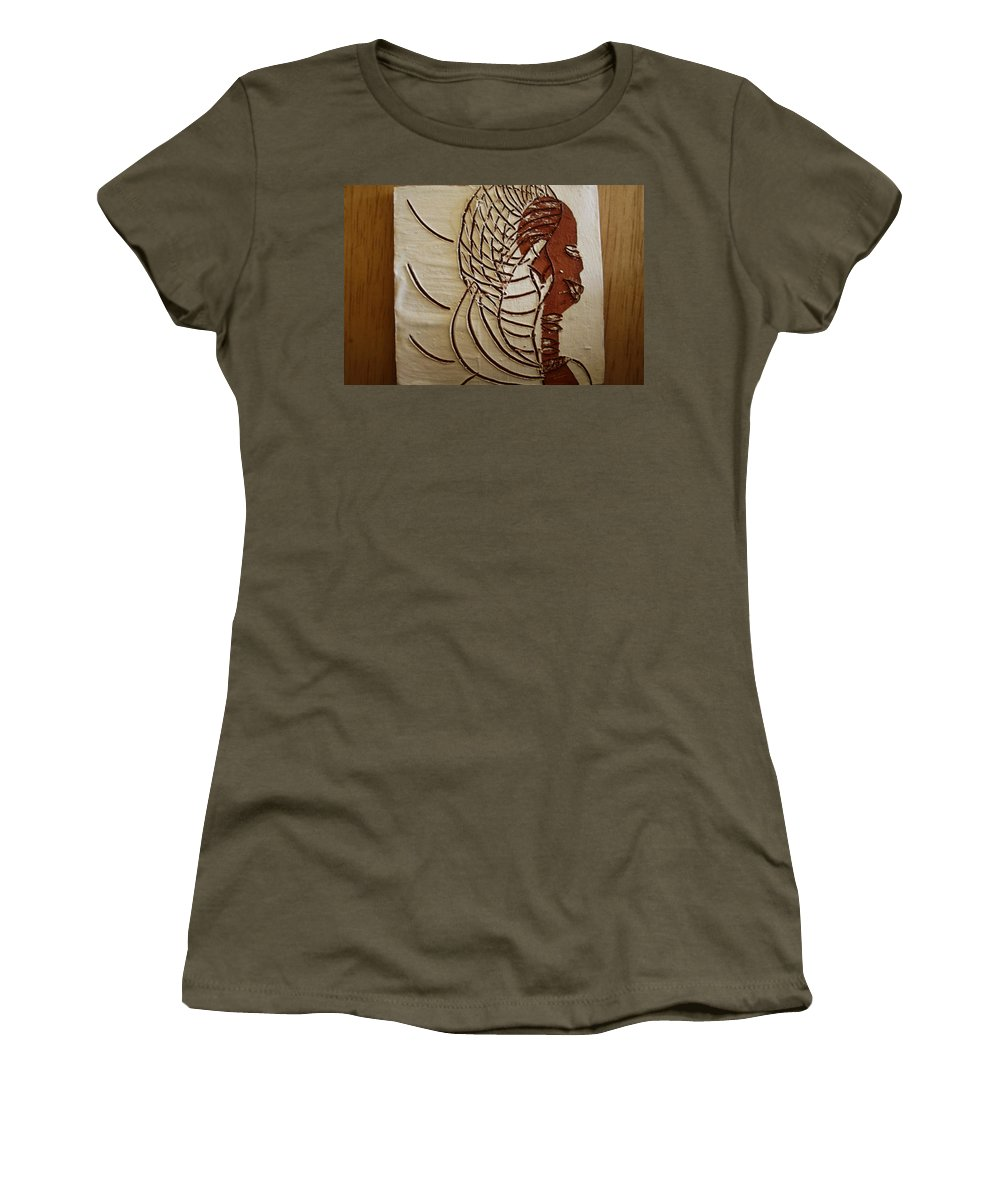 Jesus Women's T-Shirt (Athletic Fit) featuring the ceramic art Church Lady 4 - Tile by Gloria Ssali
