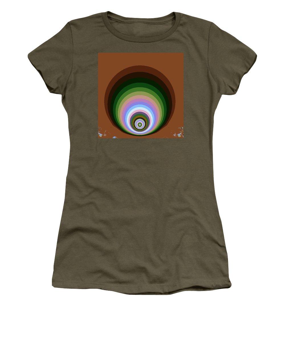 Digital Art Women's T-Shirt (Athletic Fit) featuring the digital art Circle II by Dragica Micki Fortuna