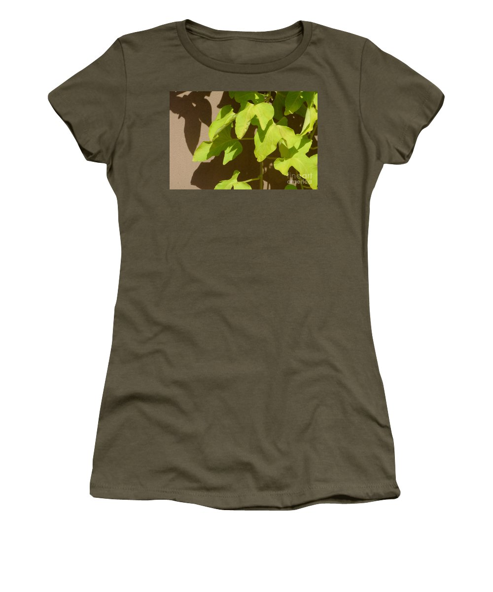 Leaves Women's T-Shirt featuring the photograph City Leaves by Merrimon Crawford