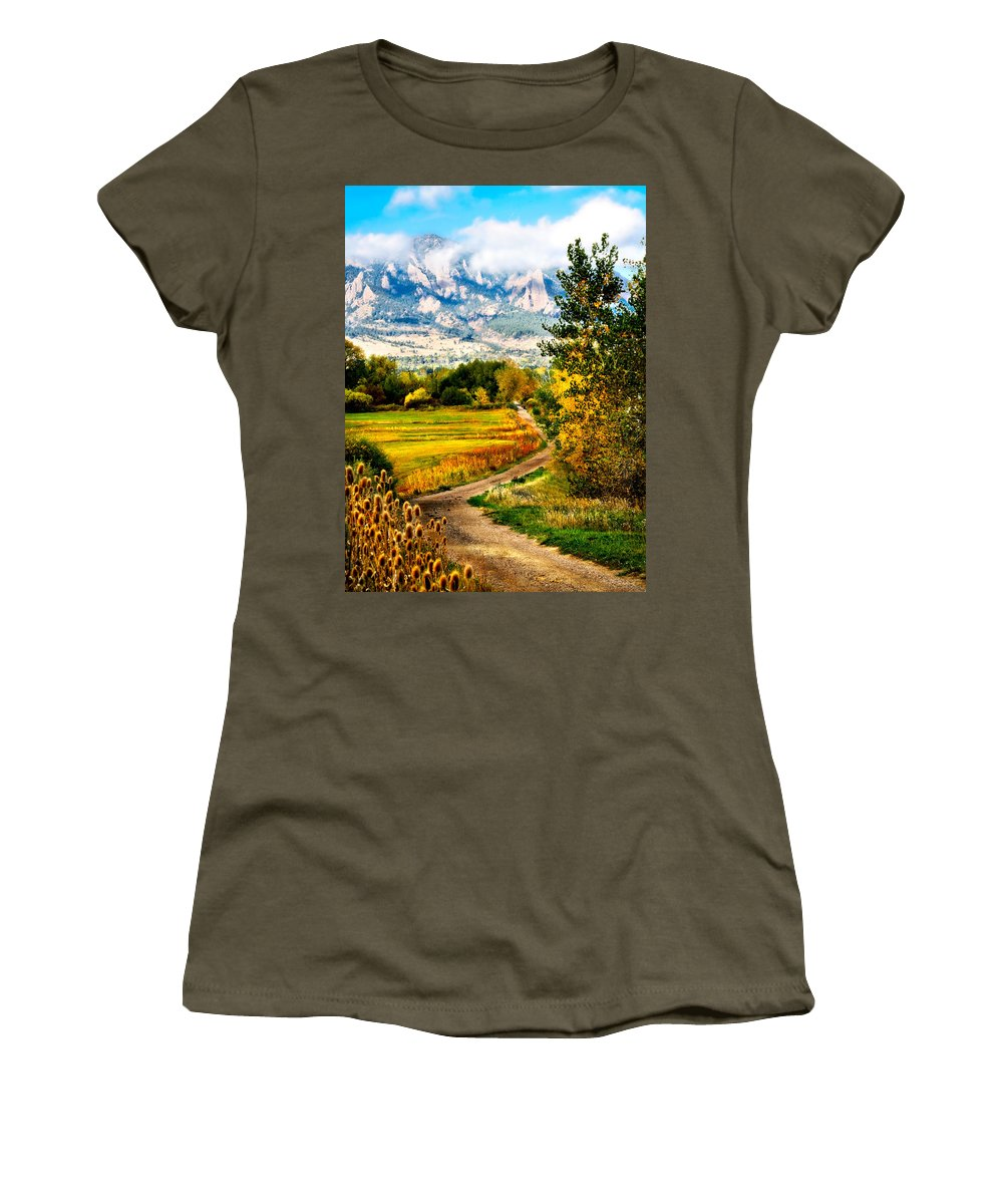 Americana Women's T-Shirt (Athletic Fit) featuring the photograph Clearly Colorado by Marilyn Hunt