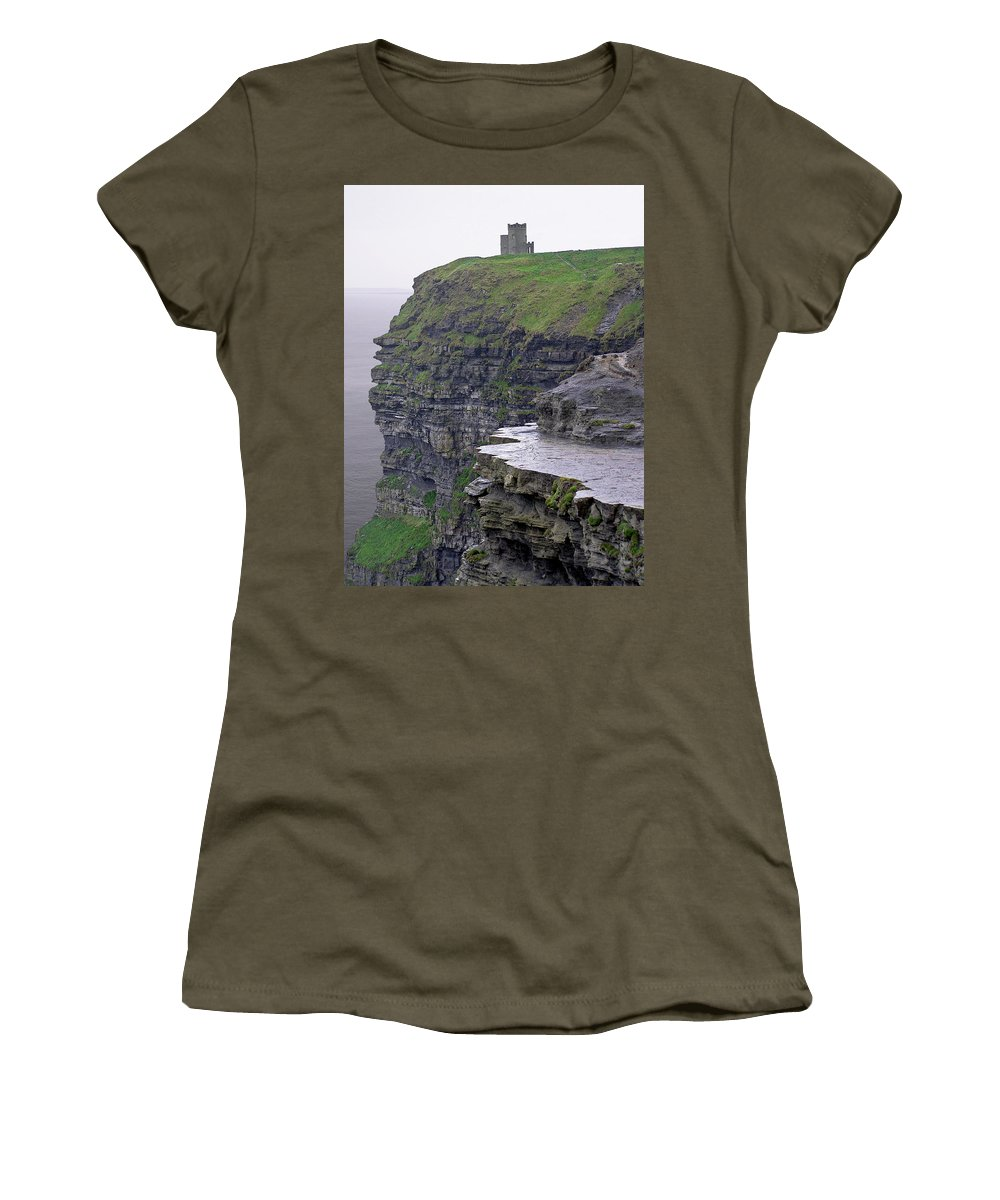 Cliff Women's T-Shirt featuring the photograph Cliffs Of Moher Ireland by Charles Harden