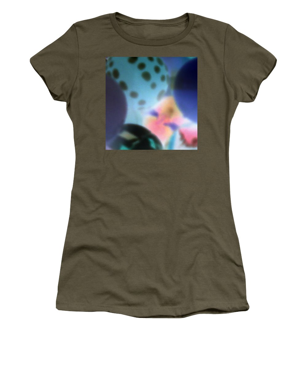 Balls Women's T-Shirt featuring the photograph Close Up Of Rubber Bounce Balls by Cindy New