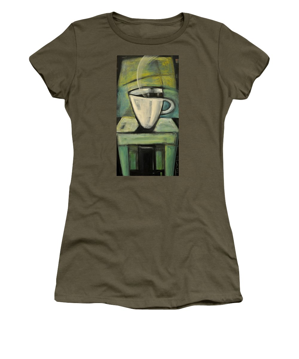 Coffee Women's T-Shirt featuring the painting Coffee. Table. 2 by Tim Nyberg