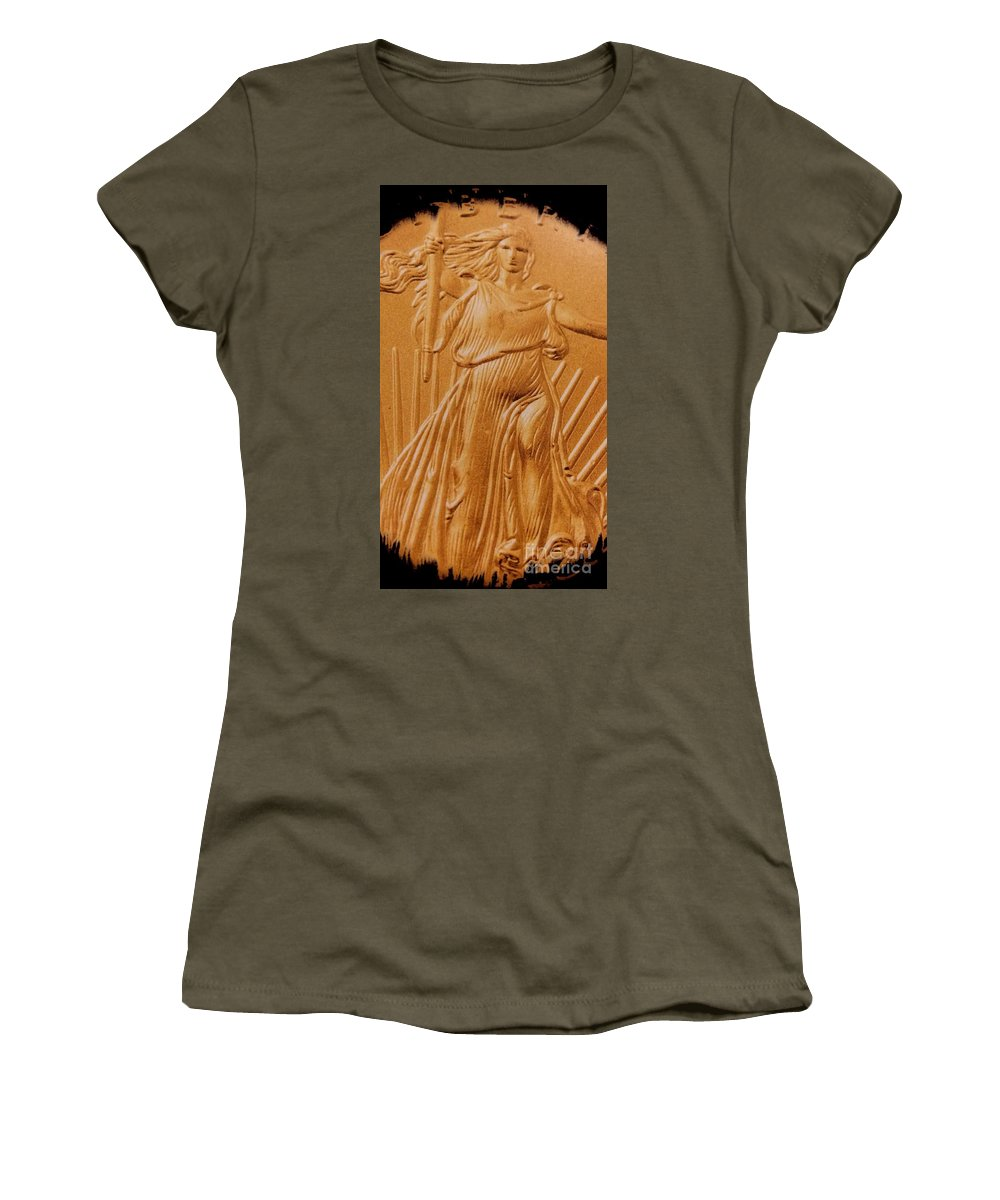 Coin Collector Vii Women's T-Shirt featuring the photograph Coin Collector Vii by Maria Urso