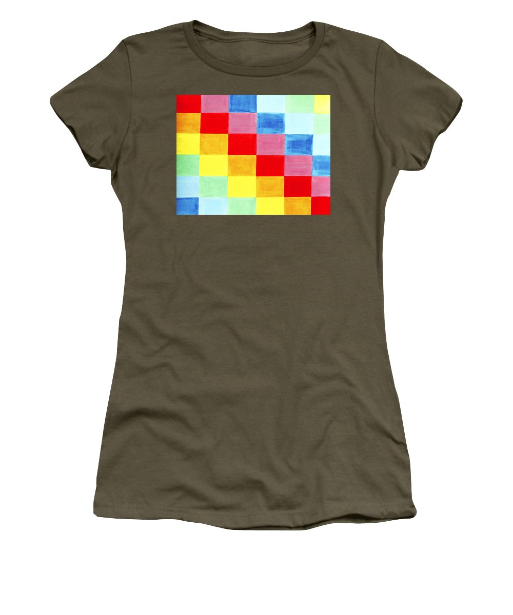 Abstract Women's T-Shirt featuring the painting Color Flag by Lee Serenethos