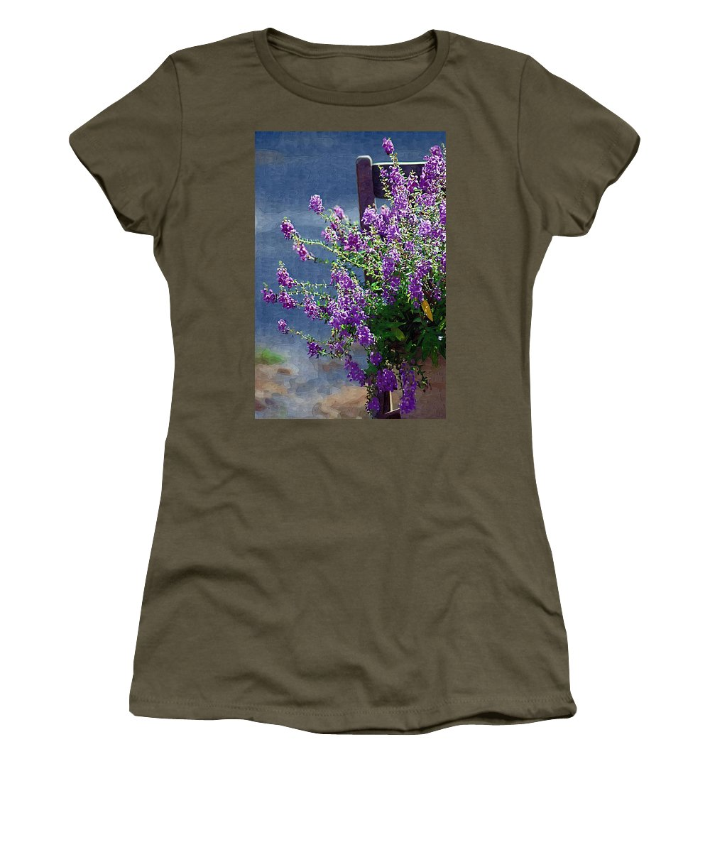 Purple Women's T-Shirt featuring the photograph Color Purple by Donna Bentley