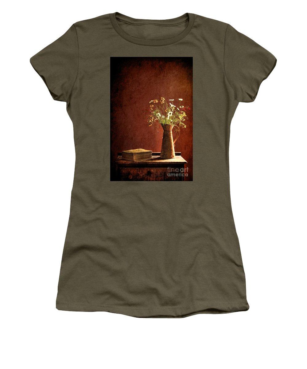Still Life Women's T-Shirt featuring the photograph Color Wild Garden by Sari Sauls