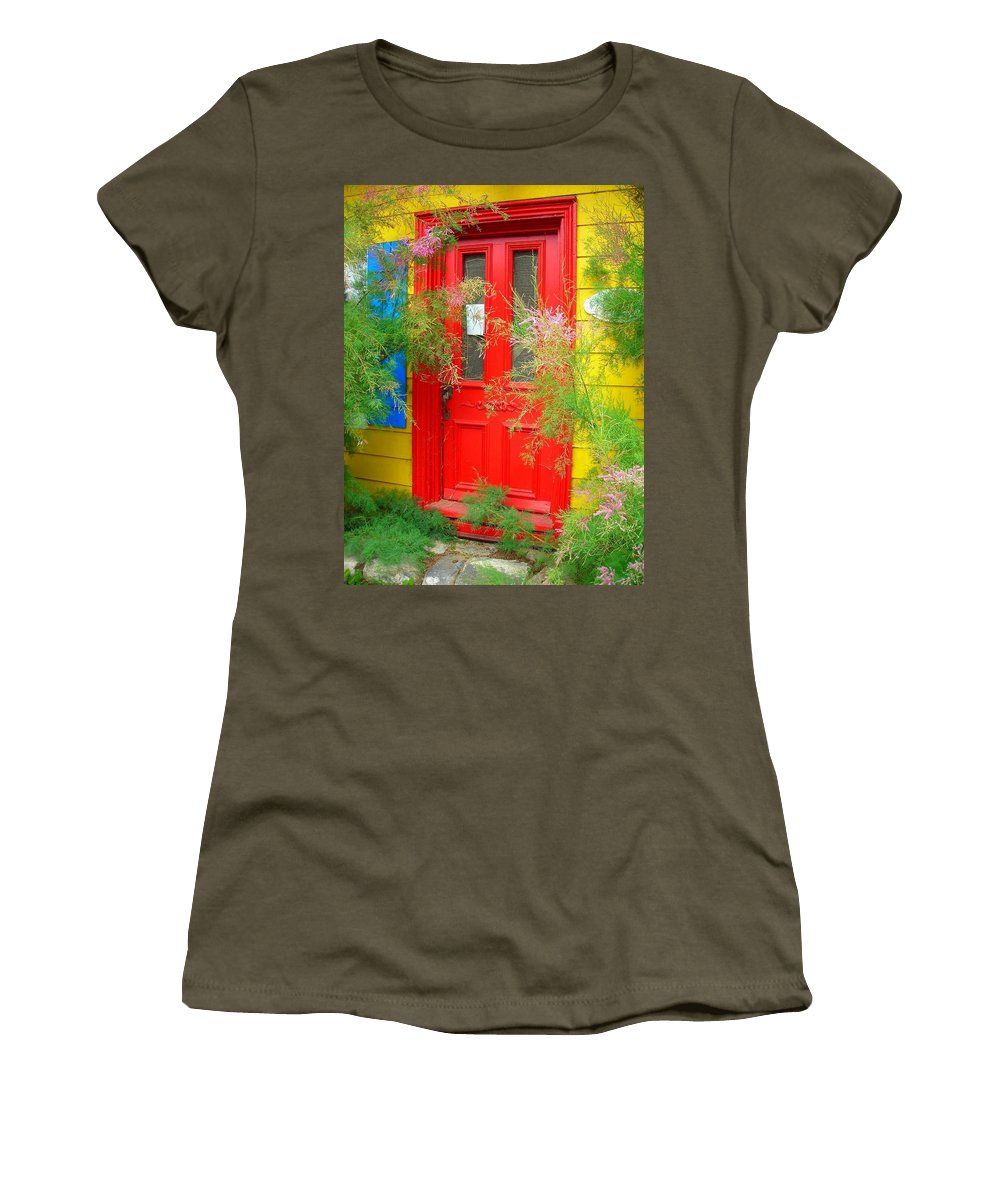 Color Women's T-Shirt featuring the photograph Colorful Entrance ... by Juergen Weiss