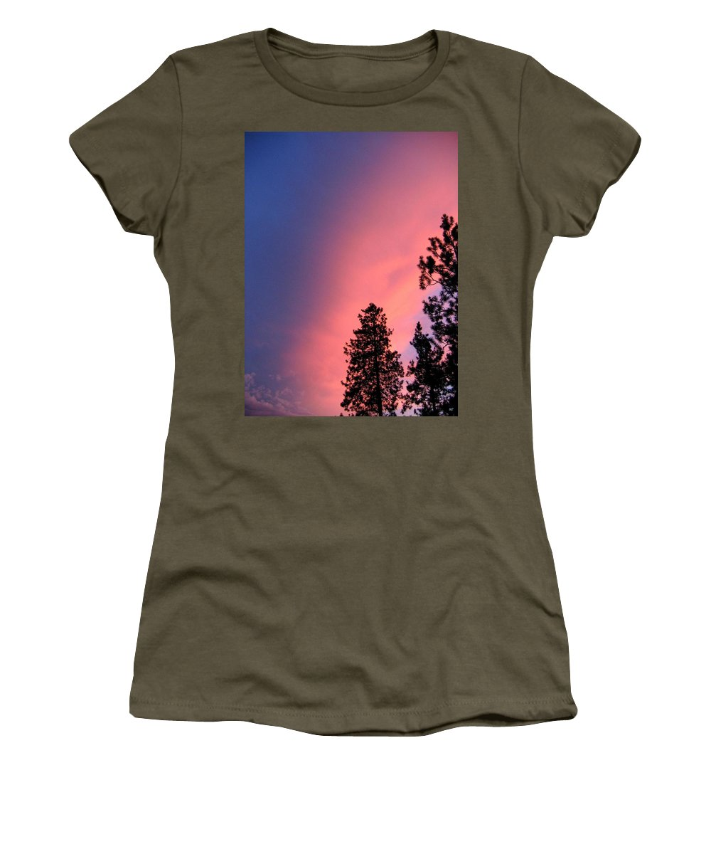Sunset Women's T-Shirt featuring the photograph Colorful Twilight Time by Will Borden