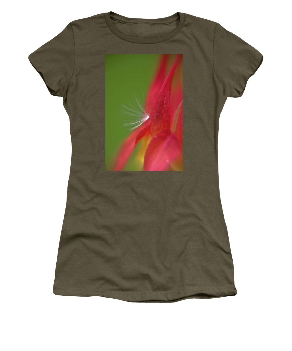 Flowers Women's T-Shirt (Athletic Fit) featuring the photograph Columbine Fair by Brenda Jacobs