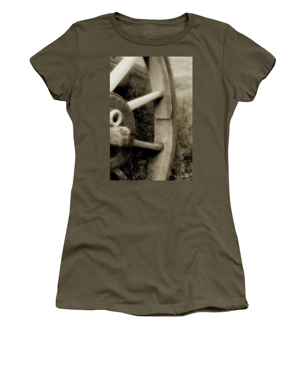 Antique Women's T-Shirt (Athletic Fit) featuring the photograph Coming Apart At The Seams by RC DeWinter