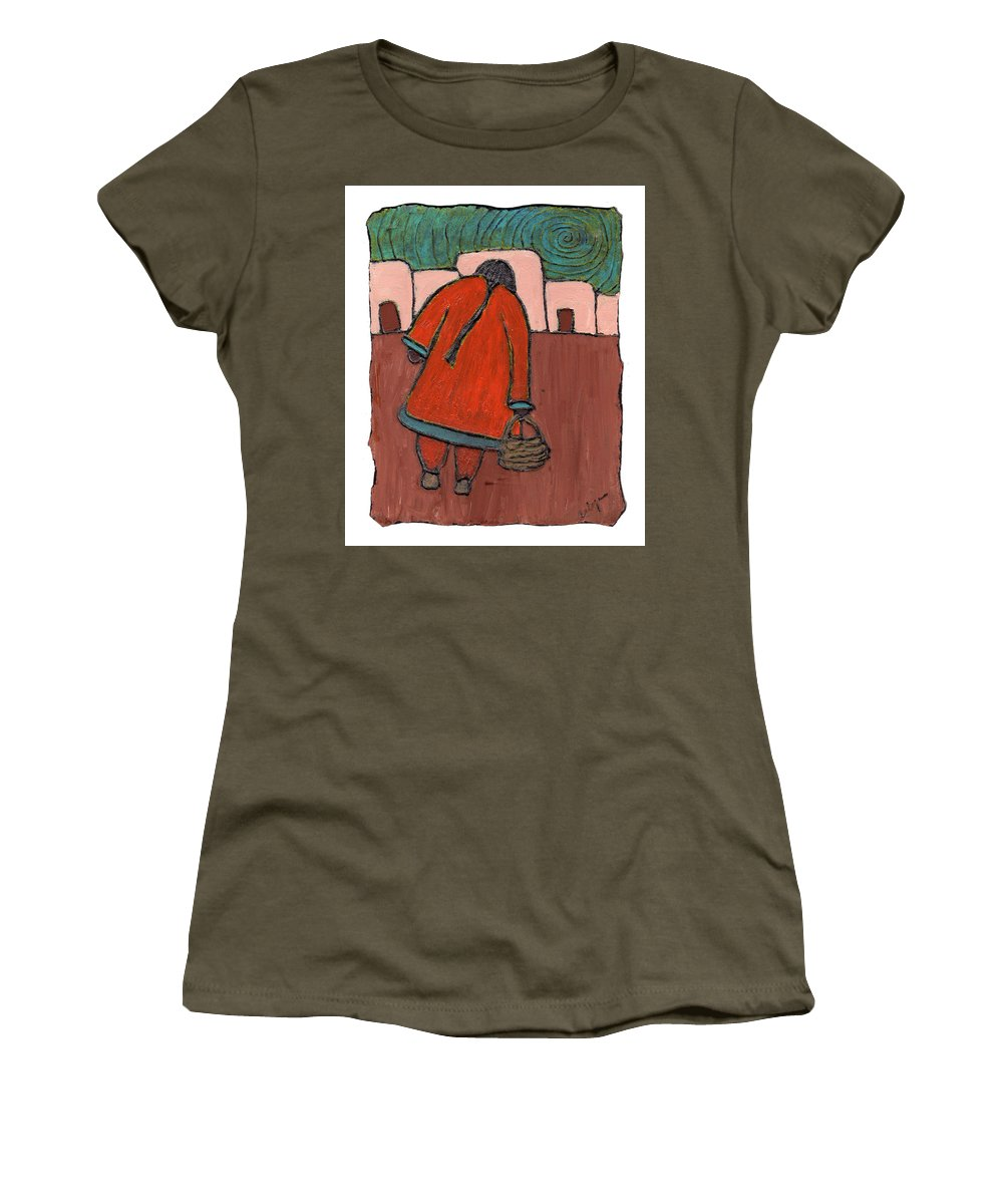 Southwest Women's T-Shirt (Athletic Fit) featuring the painting Coming Home by Wayne Potrafka