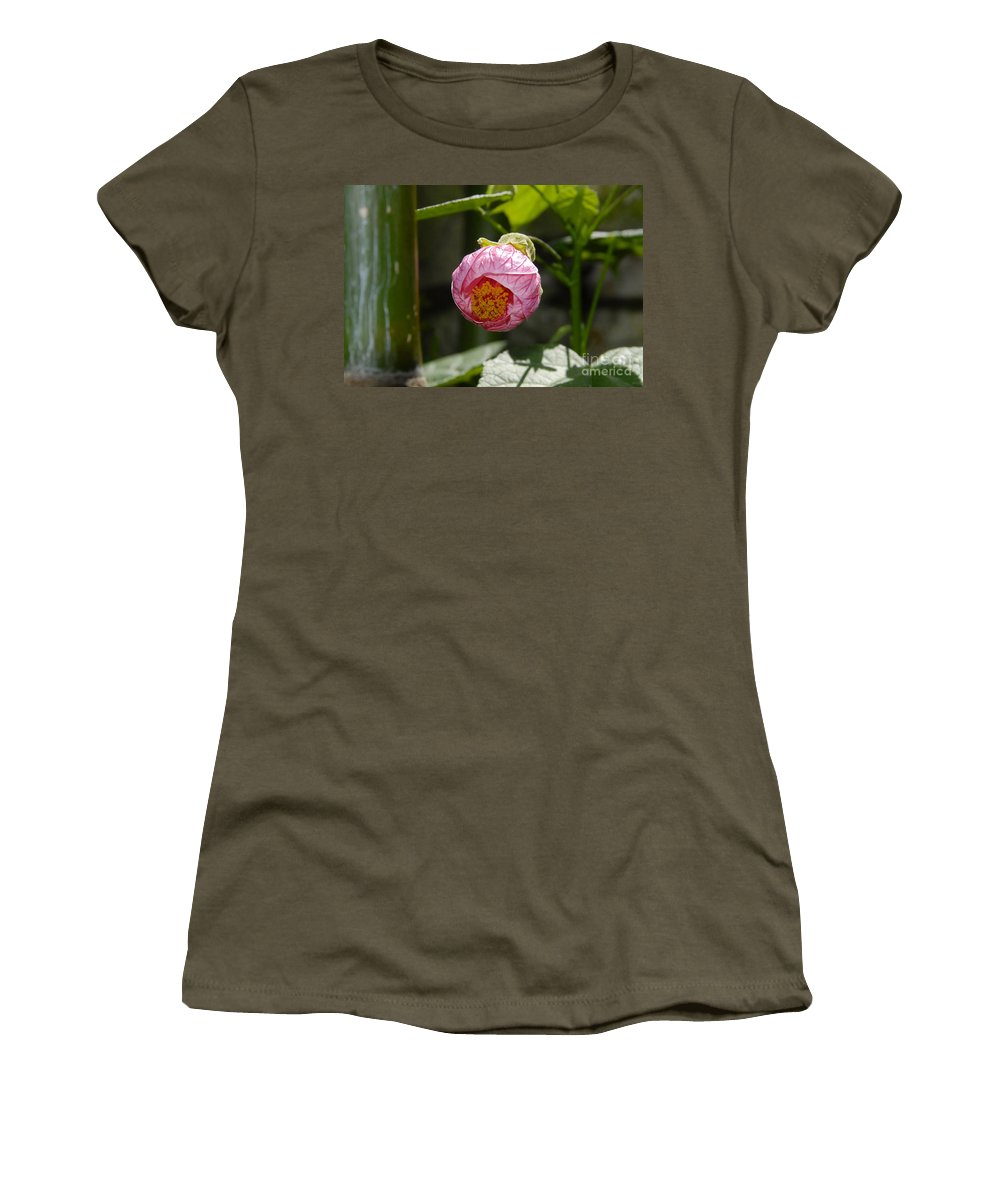 Flower Women's T-Shirt featuring the photograph Coming Out by David Lee Thompson